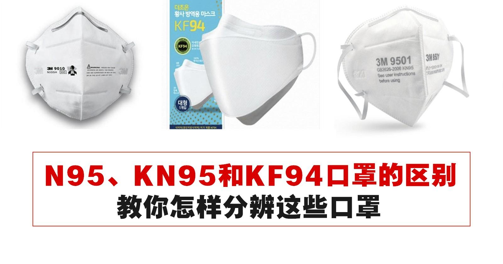 N95、KN95和KF94口罩的区别