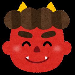 赤鬼のイラスト(男性・笑顔)