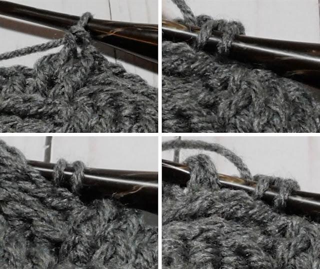 crochet basket weave stitch in the round