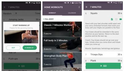 Aplikasi workout di rumah tanpa peralatan
