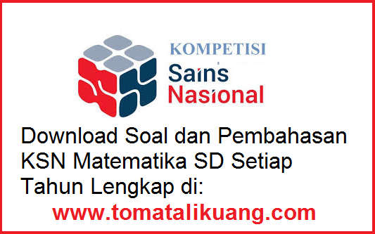 soal kunci jawaban pembahasan ksn osn sd tahun 2020 bidang matematika pdf tomatalikuang.com