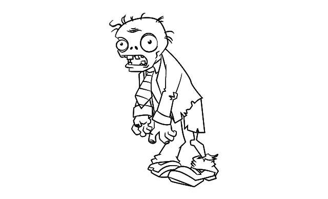 dibujo facil zombie colorear