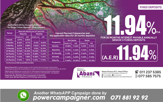 Earn 11.44% Annually  for your 36 months fixed deposit.