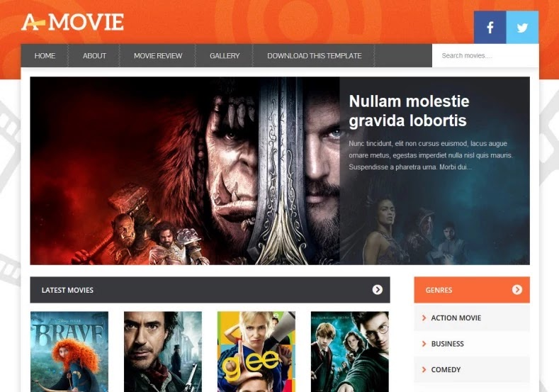 A Movie Blogger Template