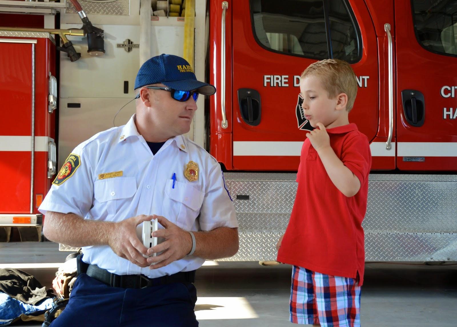 Fire Station Visit 2014
