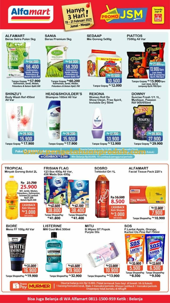 Katalog Promo JSM Alfamart Periode 19 - 21 Februari 2021