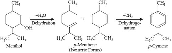 Dehydrogenation: Menthol