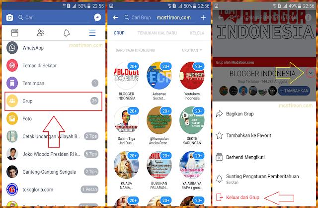 Cara Keluar Dari Group Facebook Melalui Hp Android
