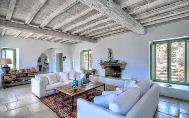 Estilo rustico casa rustica griega for Case al mare interni
