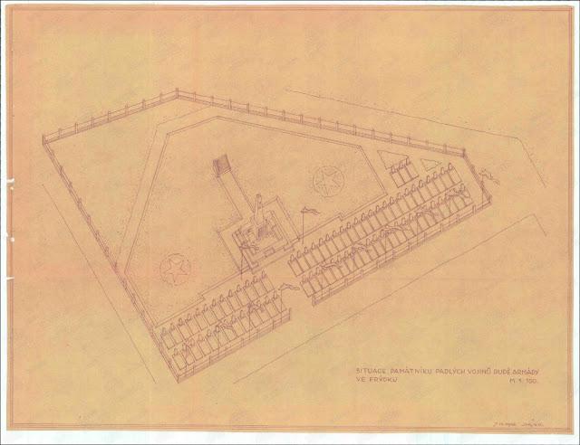 Схема воинского захоронения в г. Фридек-Мистек