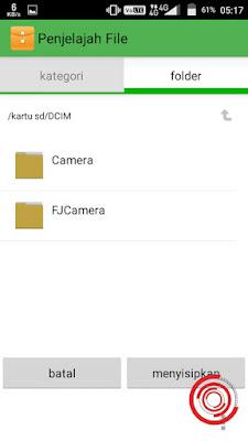 4. Pilih lokasi folder yang ingin kalian gunakan, lalu tekan Menyisipkan