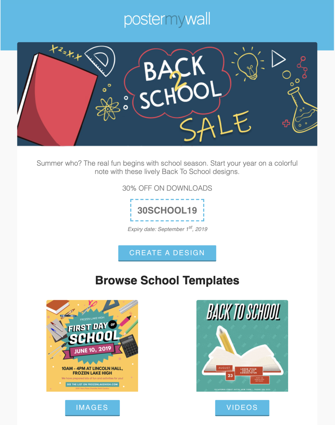 PosterMywall #BacktoSchool Sale