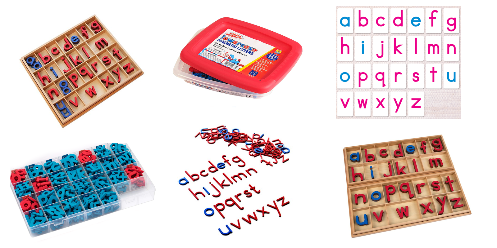 The Montessori movable alphabet can give young children the tools they need to write well before they are able to write with paper. Here are some common questions and some movable alphabet options.