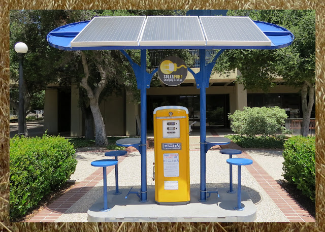 Solar charging station at Stanford University