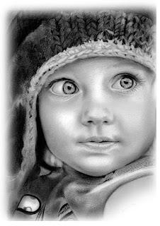 retratos realistas de crianças