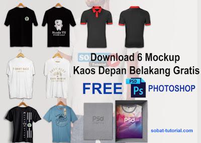 Free 8 Mockup Kaos Depan Belakang Gratis (Free PSD)