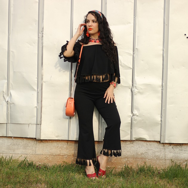 Shein Festival Outfit Idea: Tassel Top and Pant Set