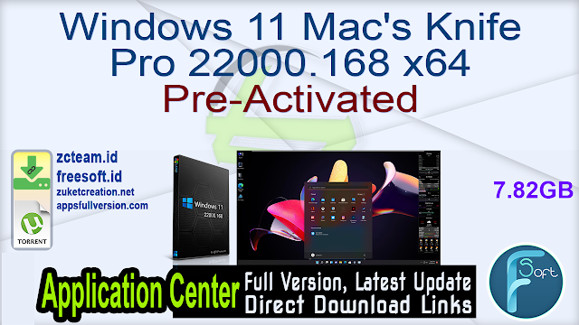 Windows 11 Mac's Knife Pro 22000.168 x64 Pre-Activated
