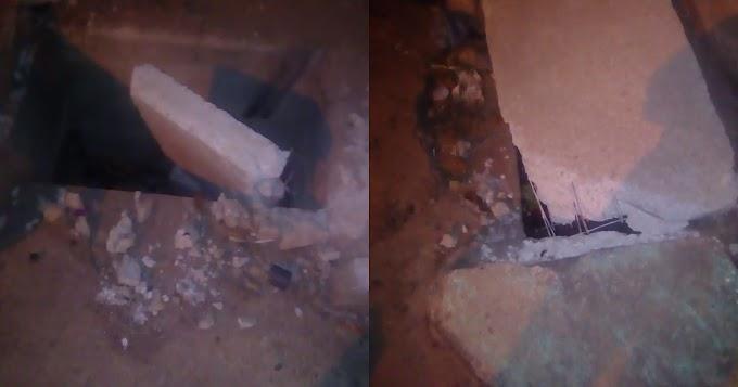 Presidente do Residencial Vale do Piracanã diz que tampas de bueiros estão sendo quebradas por caminhões que trafegam no bairro