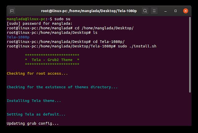 cara mengubah tampilan grub, edit grub, ubuntu linux