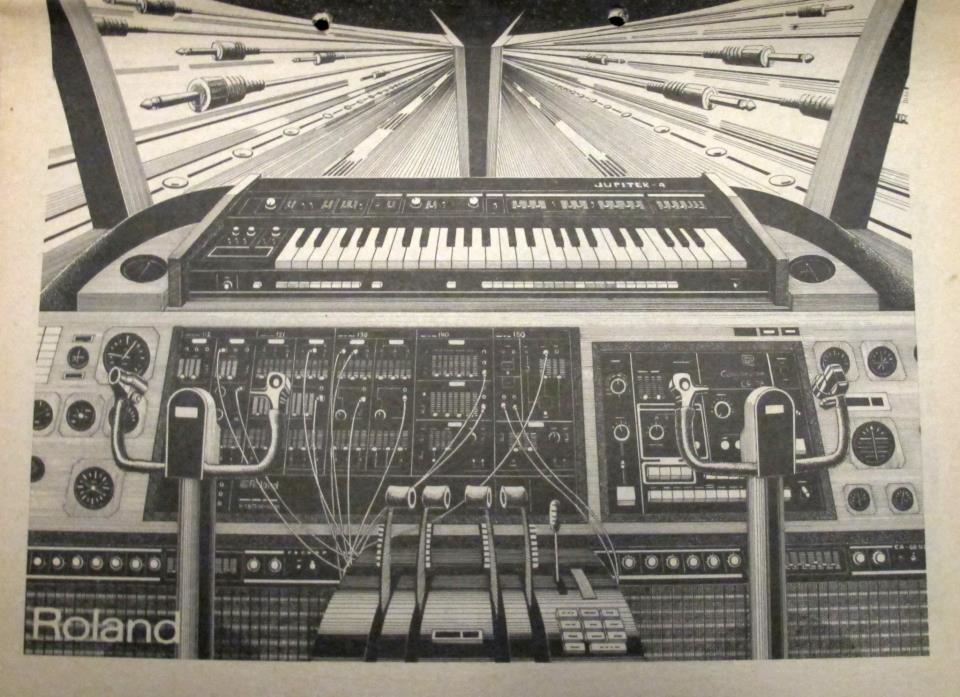 Matrixsynth Roland Death Star Run Synth Art