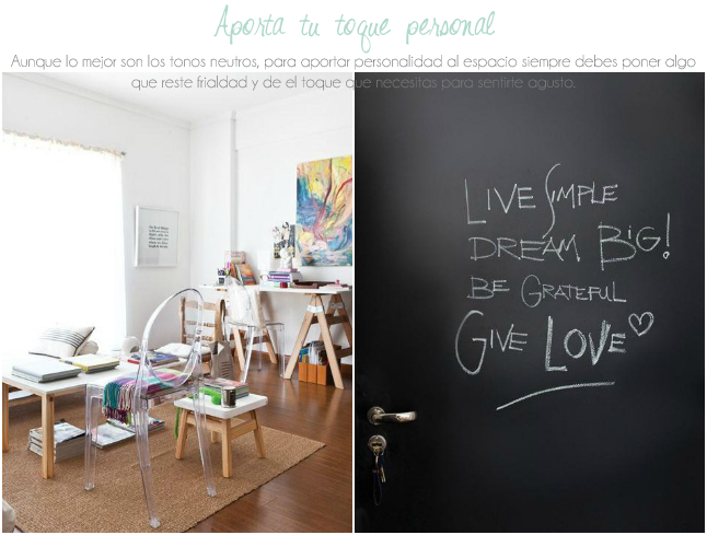 Personalidad a la decorar un espacio