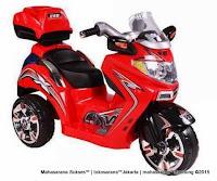 red Motor Mainan Aki Pliko PK7100 Mio
