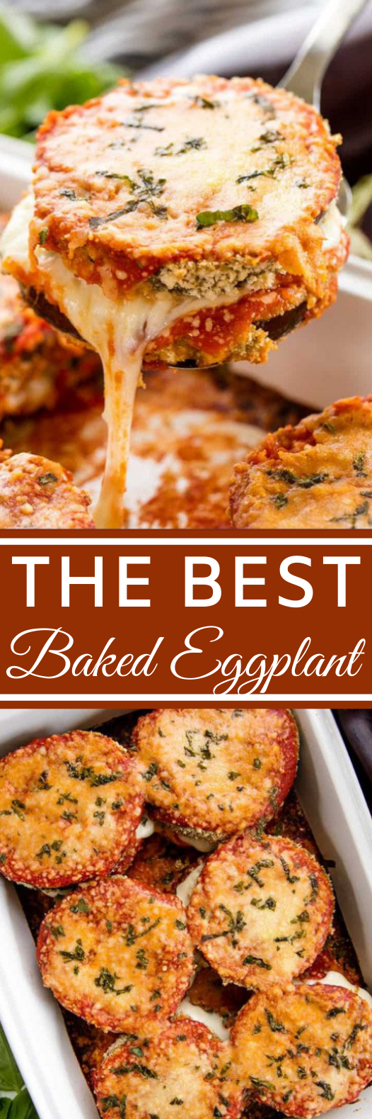 Best Baked Eggplant Parmesan #dinner #recipes #baked #vegetarian #easy