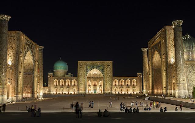 Registan Square in Samarkand, Uzbekistan