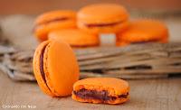Macarons con ganache de chocolate y frambuesas