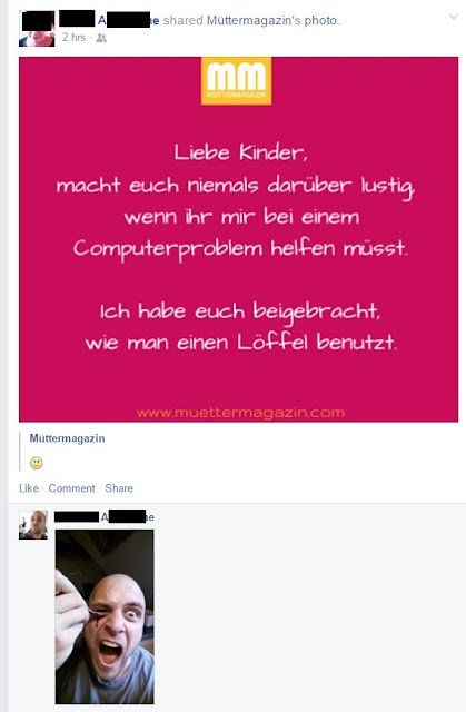 Mutter Facebook Kitschbild Fail Sohn Löffel