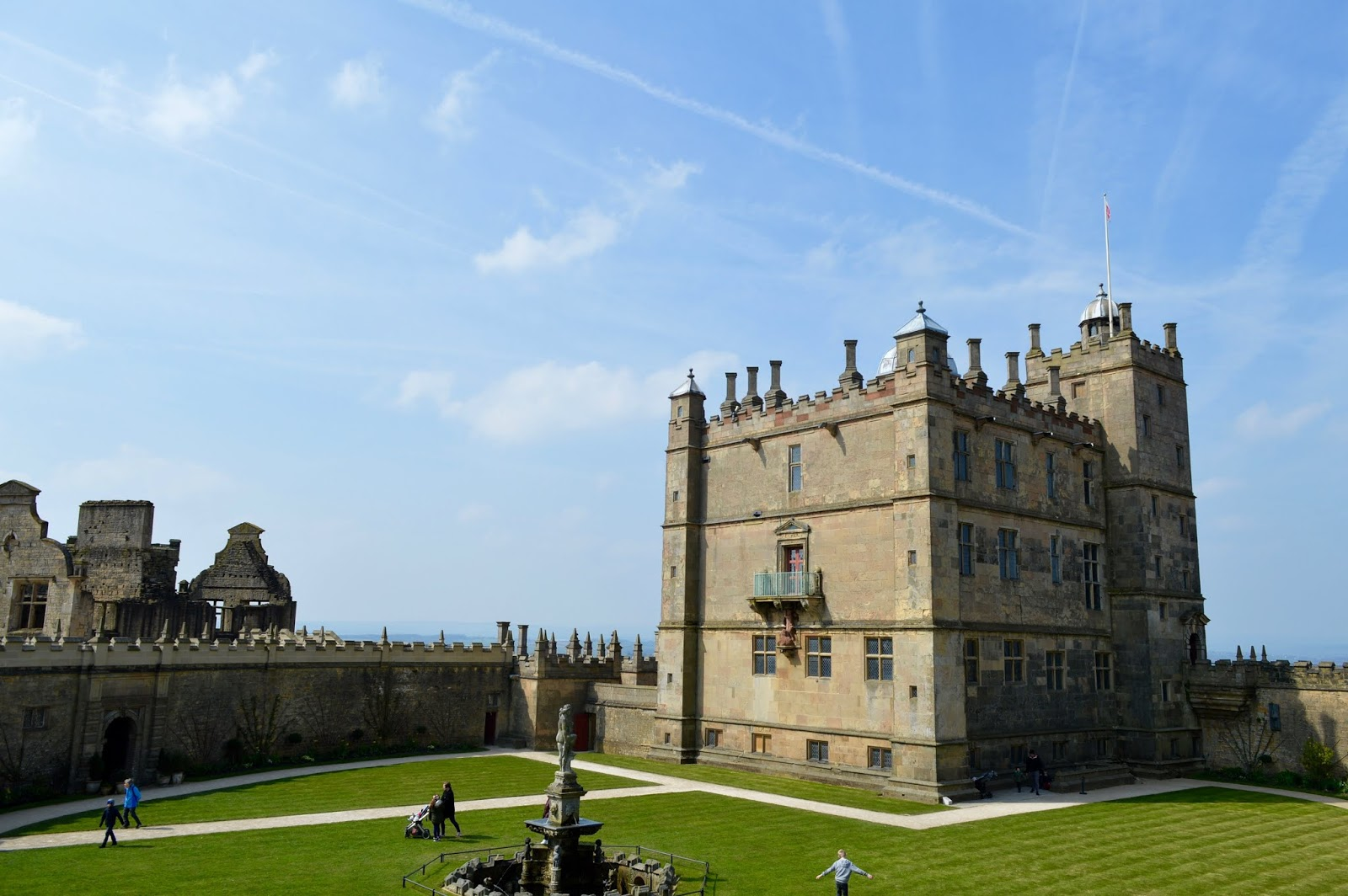 A Review of Darwin Forest & The Peak District with Tweens  - Bolsover Castle courtyard