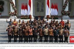 Daftar Nama-nama Menteri Kabinet Indonesia Maju Jokowi-Mahruf Amin 2019-2024