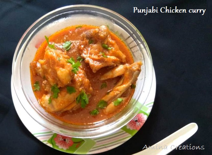 Amina Creations Punjabi Chicken Curry Recipe With Video