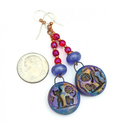 dancing people hieroglyph jewelry gift for her