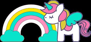 Clipart de Unicornios para Scrapbook.