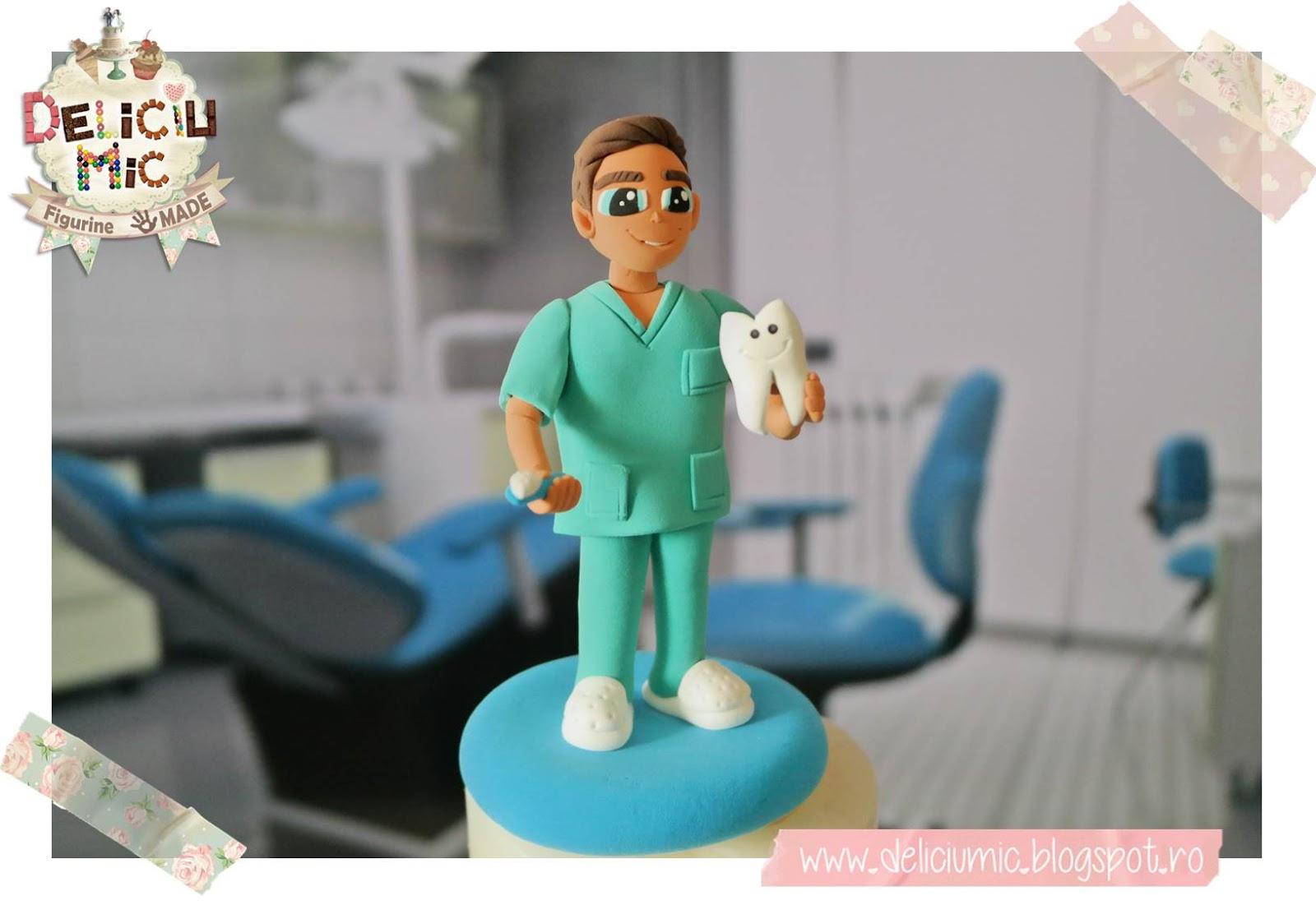 Figurina tort stomatolog