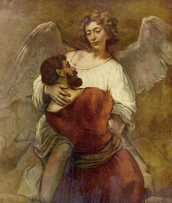 יעקב נאבק במלאך - רמברנדט