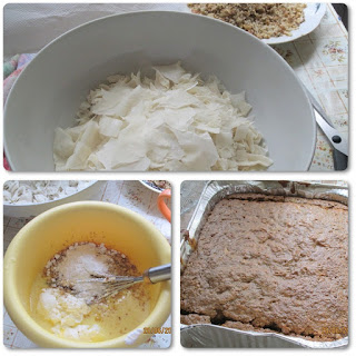 Placinta greceasca cu nuci, miere si sirop