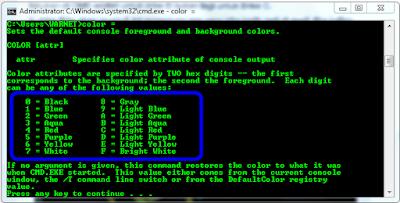 Cara Mengubah Warna Tulisan Pada CMD