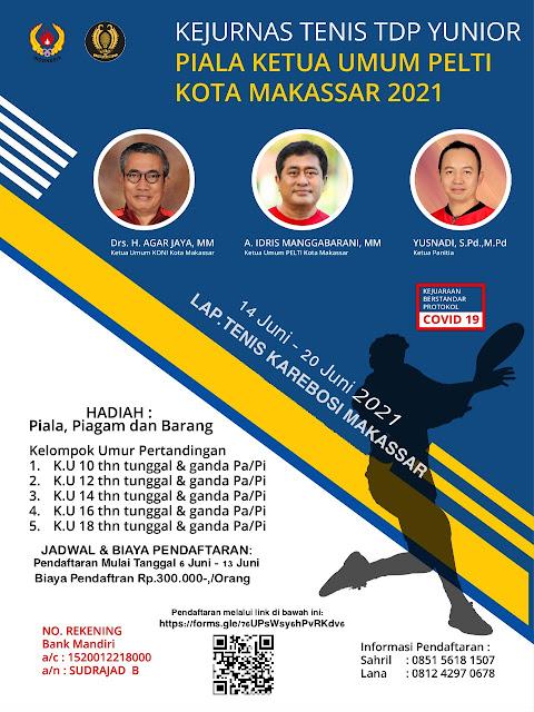 Kejuaraan Nasional Tenis Yunior Piala Ketua Pengkot PELTI Makassar 2021