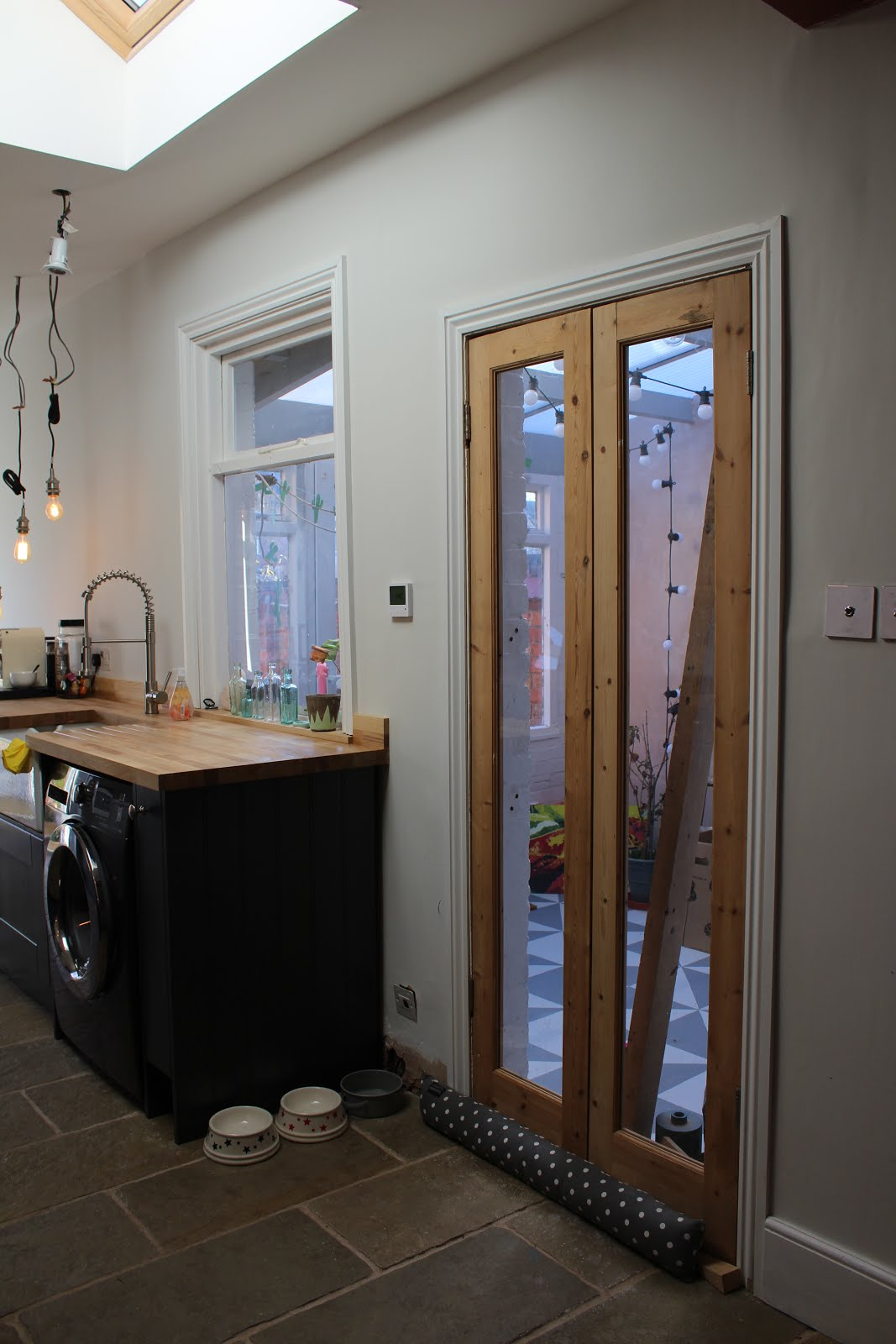 Internal Skinny French Doors to Conservatory