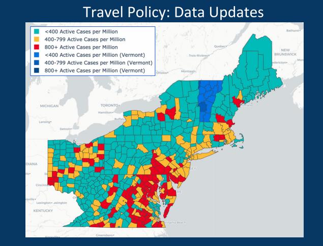 June 26 VT Travel Map