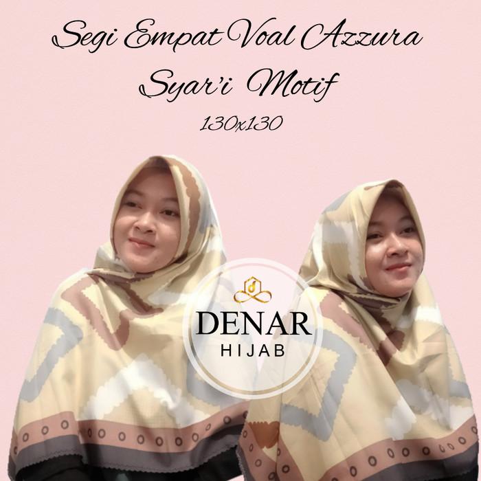 Jilbab Hijab Kerudung Segi Empat Syar'i Terbaru Voal Azzura Premium Platinum By Denar Hijab NEW