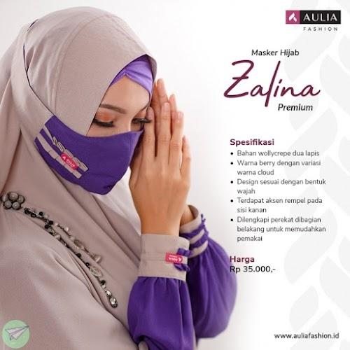 masker hijab aulia zalina premium
