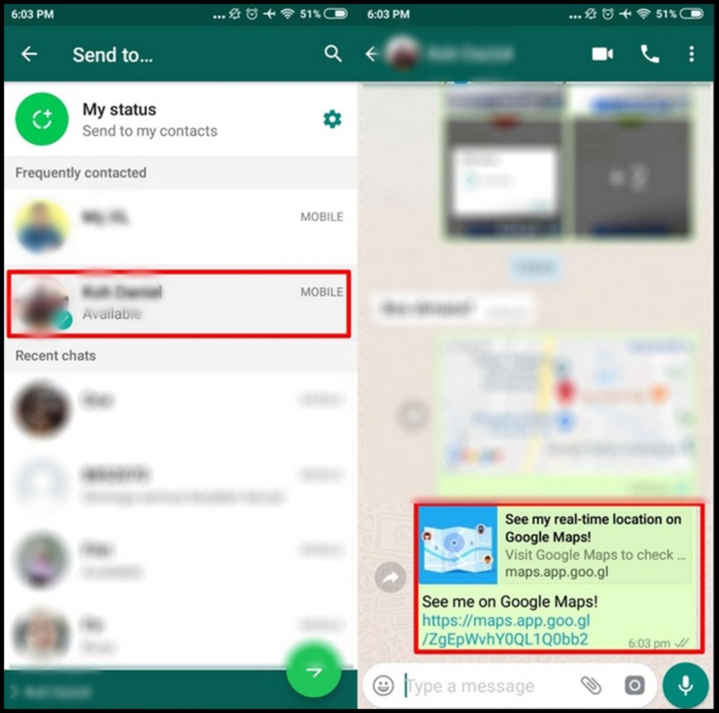 cara share lokasi google map ke wa