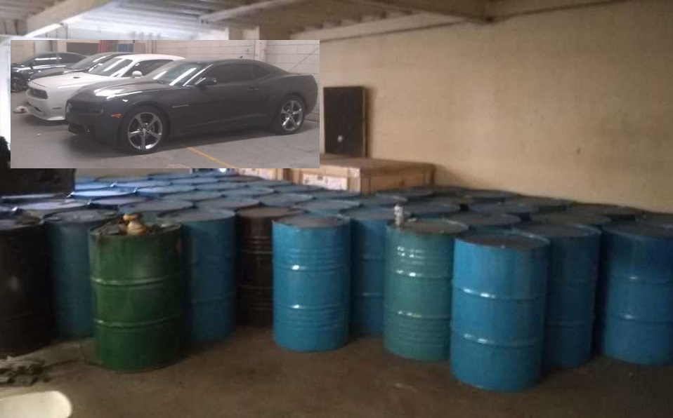 Aseguran bodega con químicos y vehículos de lujo del Cártel de Sinaloa