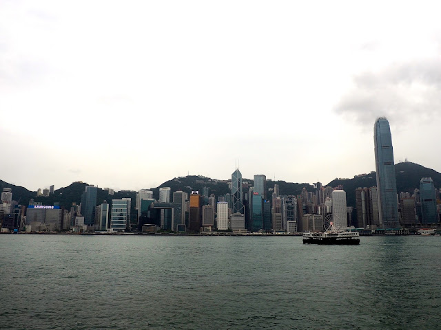 View of Hong Kong skyline from TST, Kowloon, Hong Kong