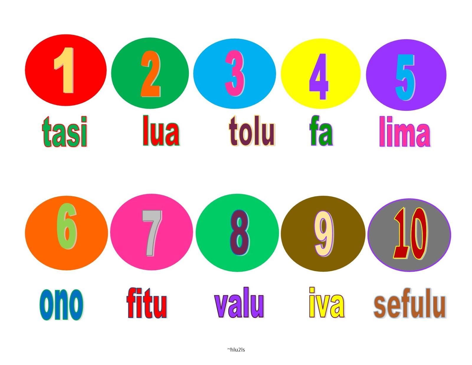 Samoan For Kids Samoan Numbers