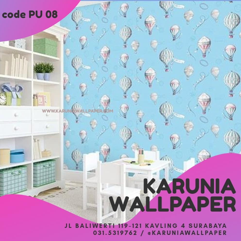jual wallpaper dinding kamar warna pelangi anak